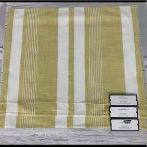 Set of 3 Yellow Striped Threshold Placemats NWT